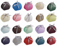 Scalloped Wedding Favour Boxes - Different Colours - SC14
